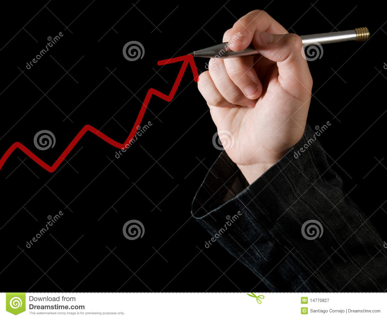 Drawing Line Graphs By Hand : Hand drawing a graph royalty free stock photography