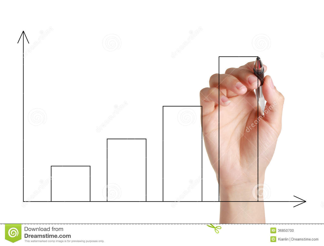 Hand Drawing Graph Stock Photo Image Of Businessman