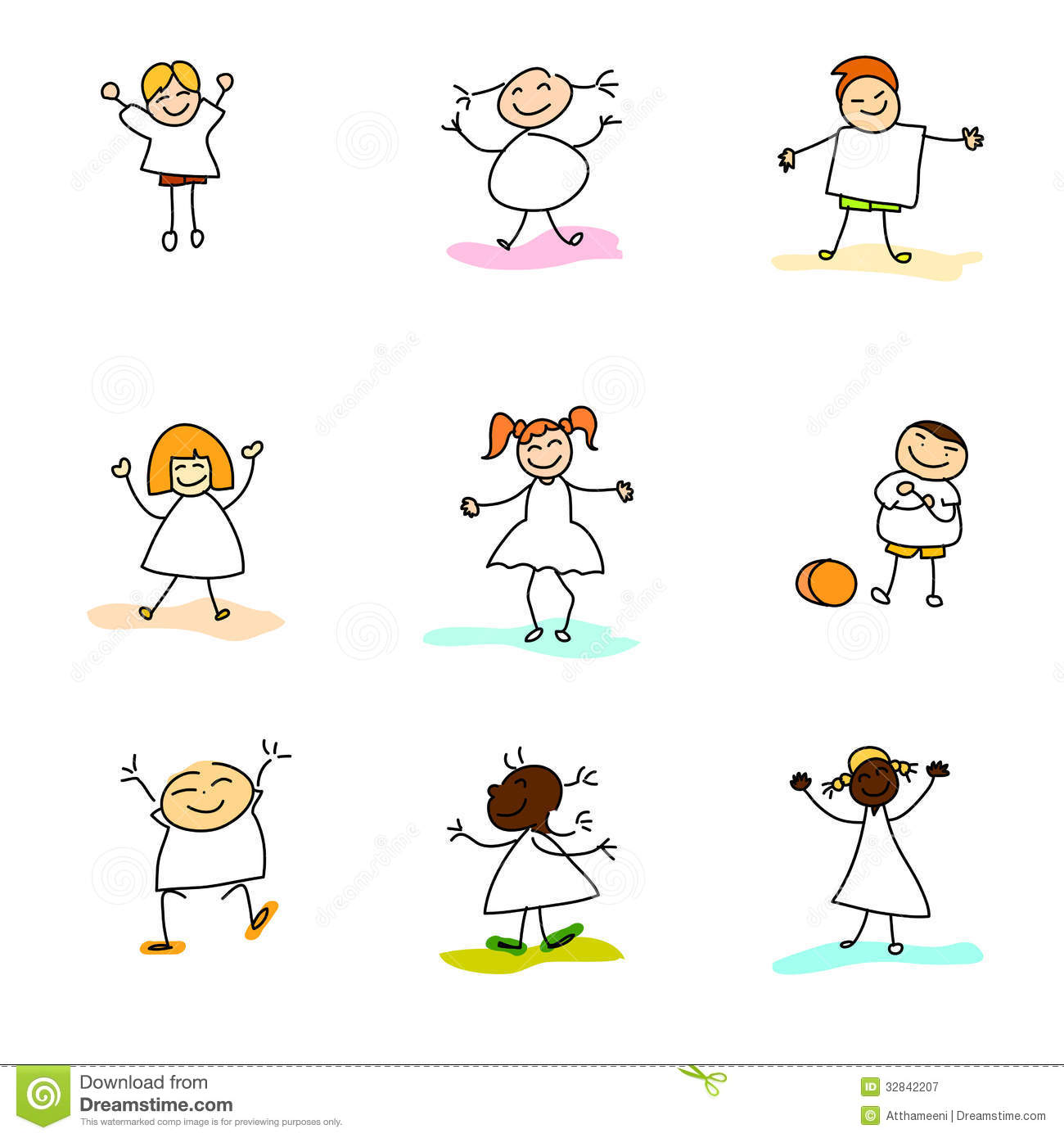 hand drawing happy kids royalty free stock photography image - Kids Free Drawing