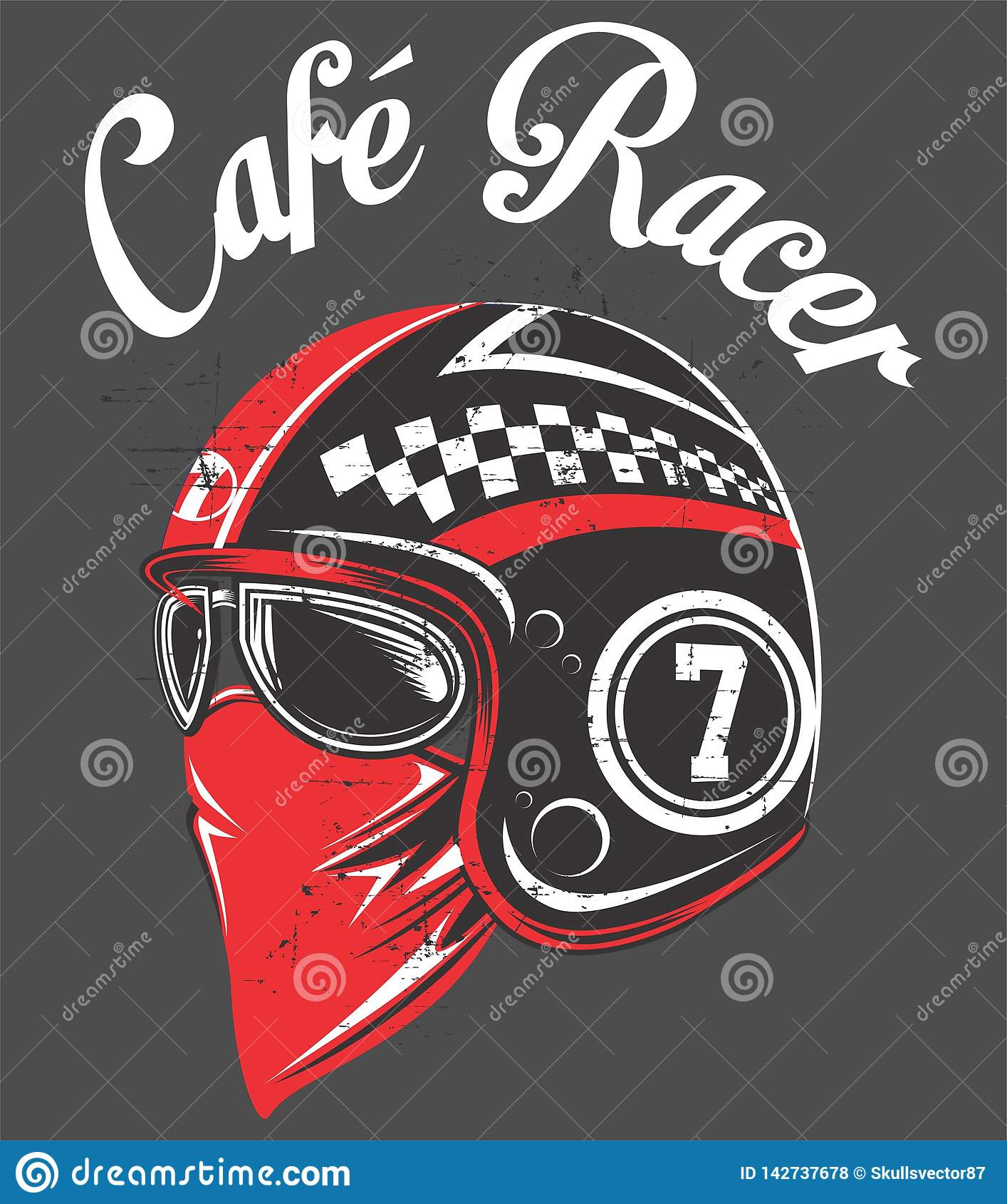 Hand Drawing Of Helmet A Classic Cafe Racer Motorcycle R Illustration Eps Manual Artrwork Hand Draw Stock Vector Illustration Of Hadcore Ilustration 142737678