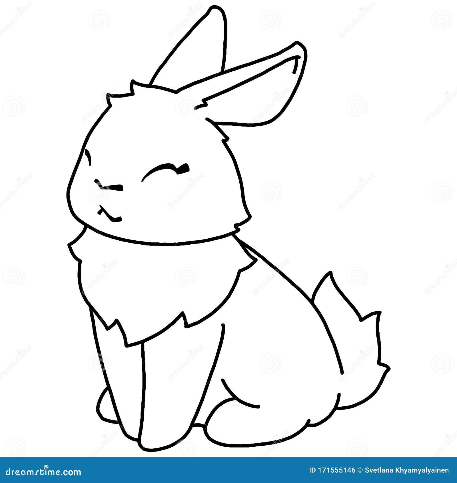 Hand Drawing Illustration Rabbit Stock Illustration Illustration Of Love Character 171555146