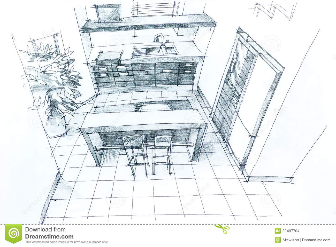 Architecture Drawing Hand architectural hand drawing stock illustration - image: 39498684
