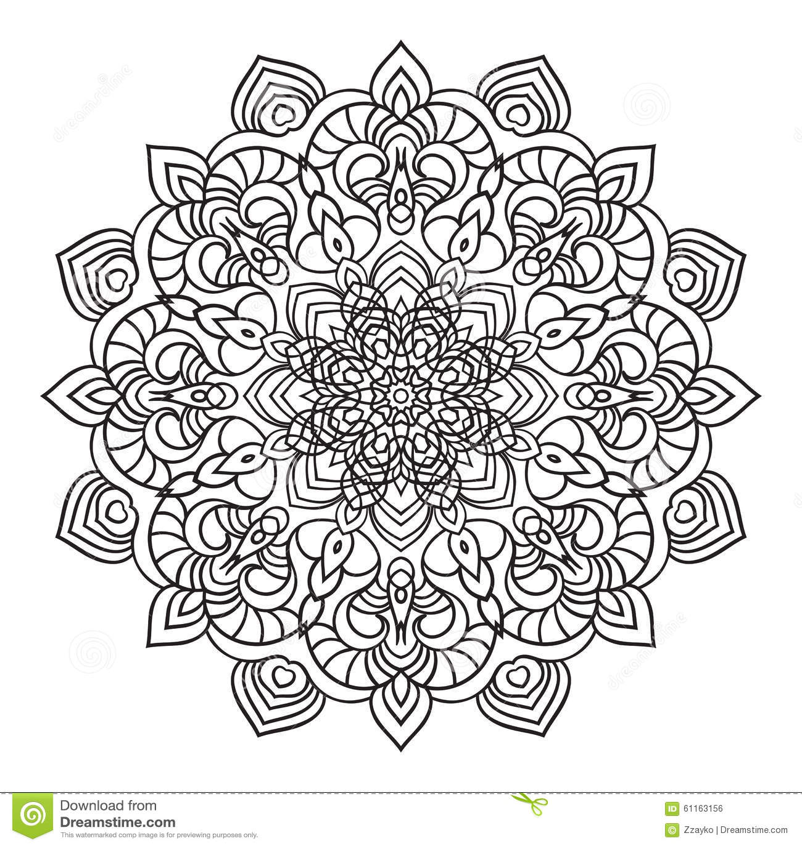 Hand drawing ornate mandala element in eastern style stock illustration image 61163156 - Motif oriental a imprimer ...