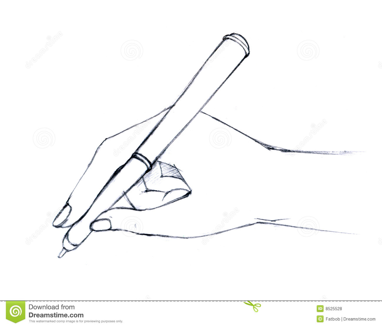 How To Draw Hands Holding A Pencil