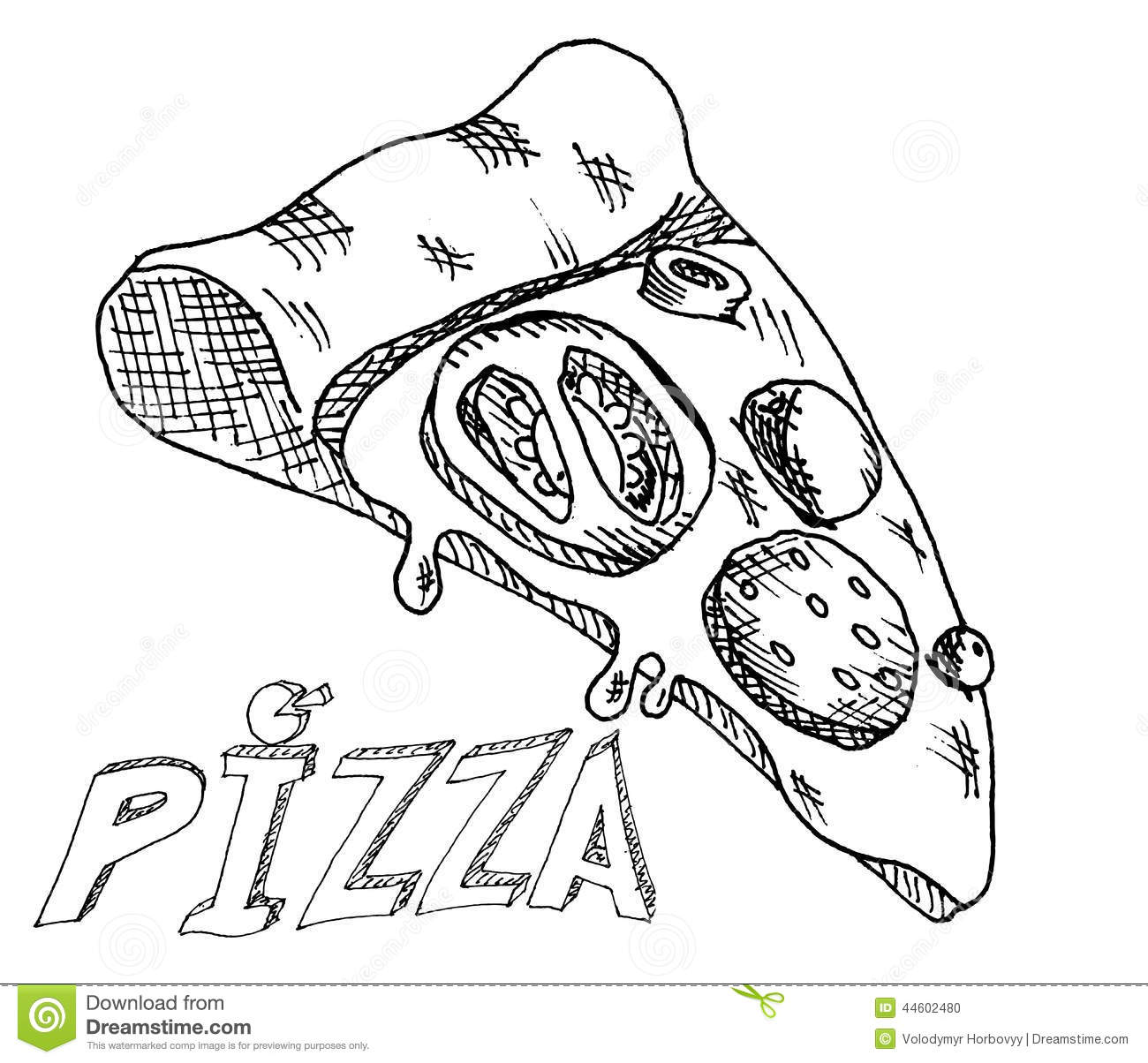 Uncategorized Drawing Pizza hand drawing pizza stock vector image of mushroom 44602480 royalty free download pizza