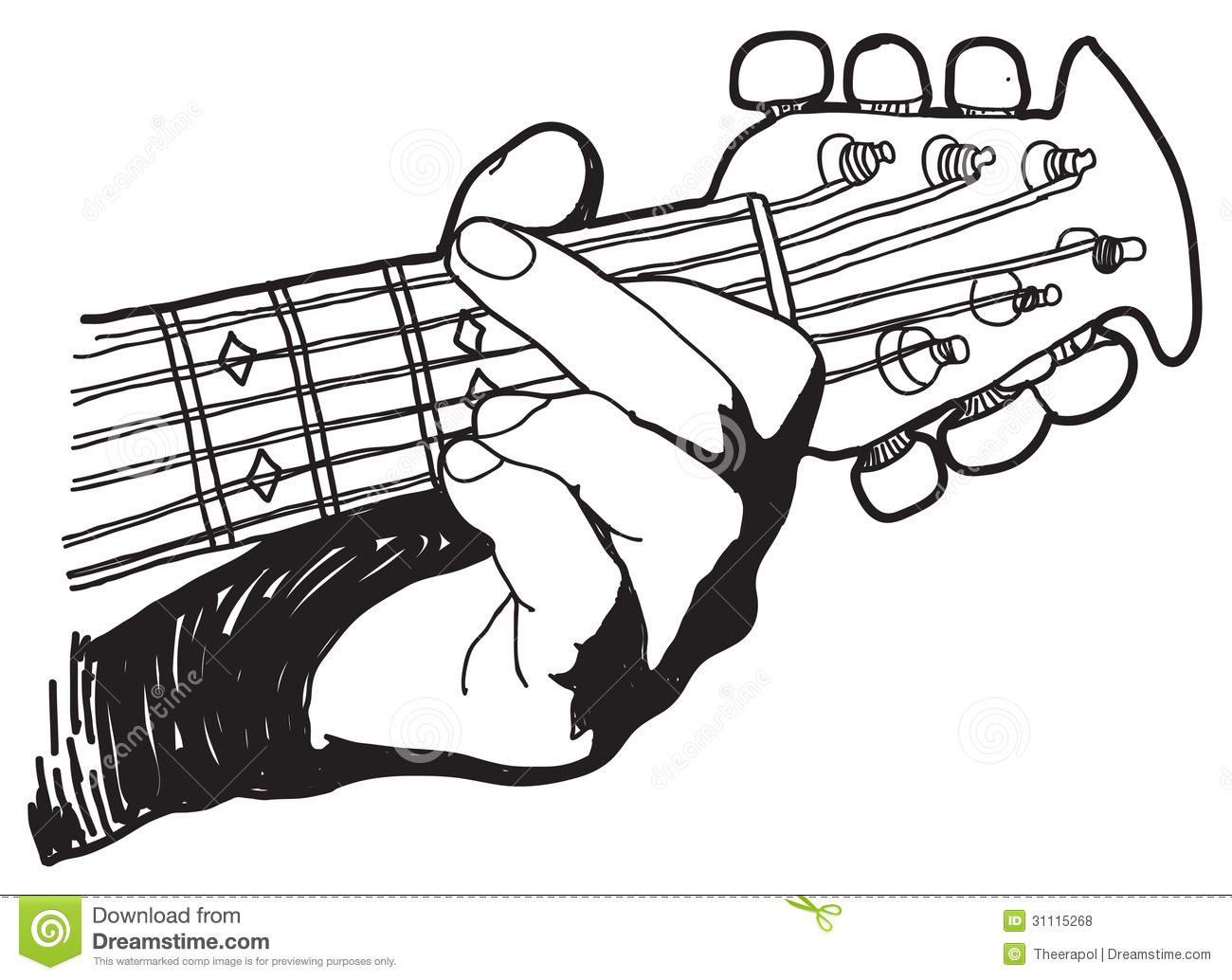 Royalty Free Stock Photos Hand Drawing Playing Guitar Image31115268 on chess vector graphics