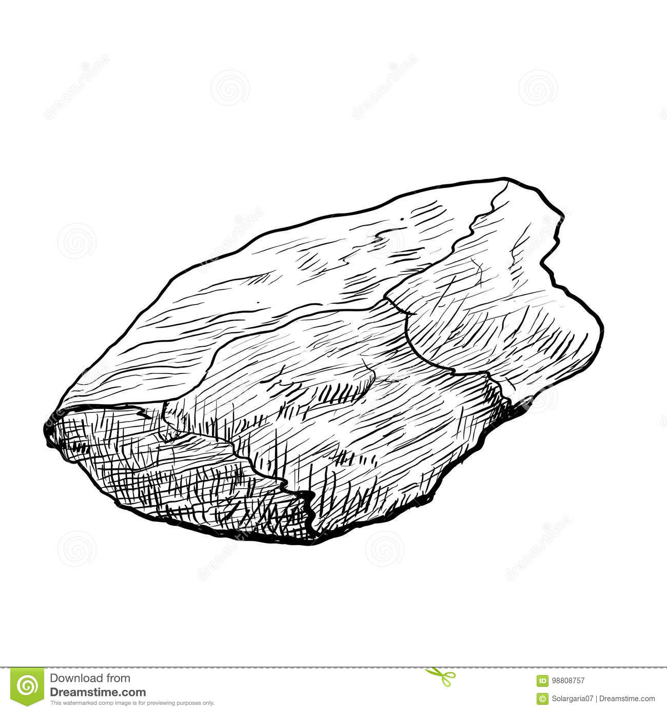 Hand Drawing Rock -Vector Drawn Illustration Stock Vector ...