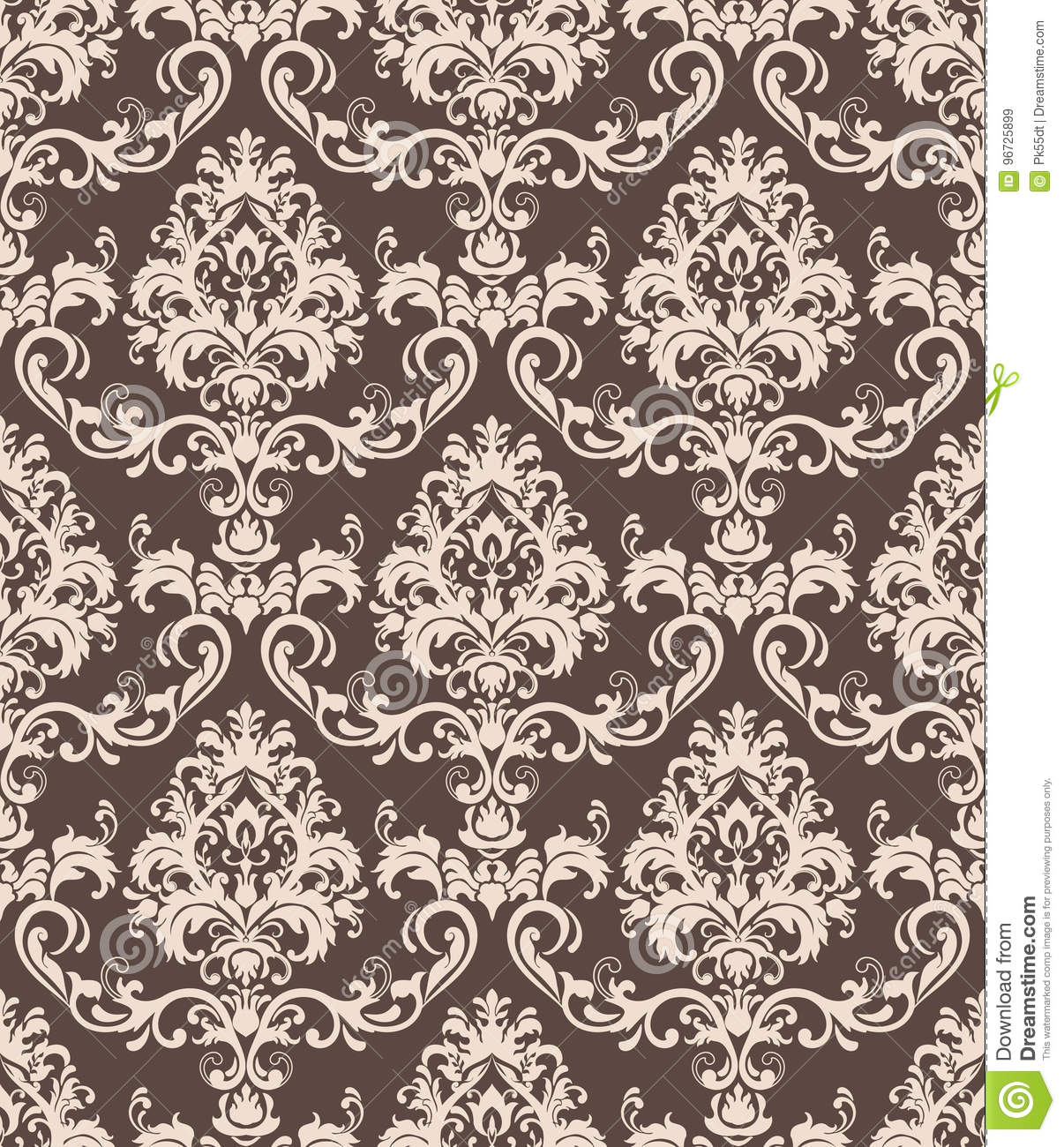 Hand drawing tile vintage color seamless pattern. Italian majolica style.  Vector illustration.