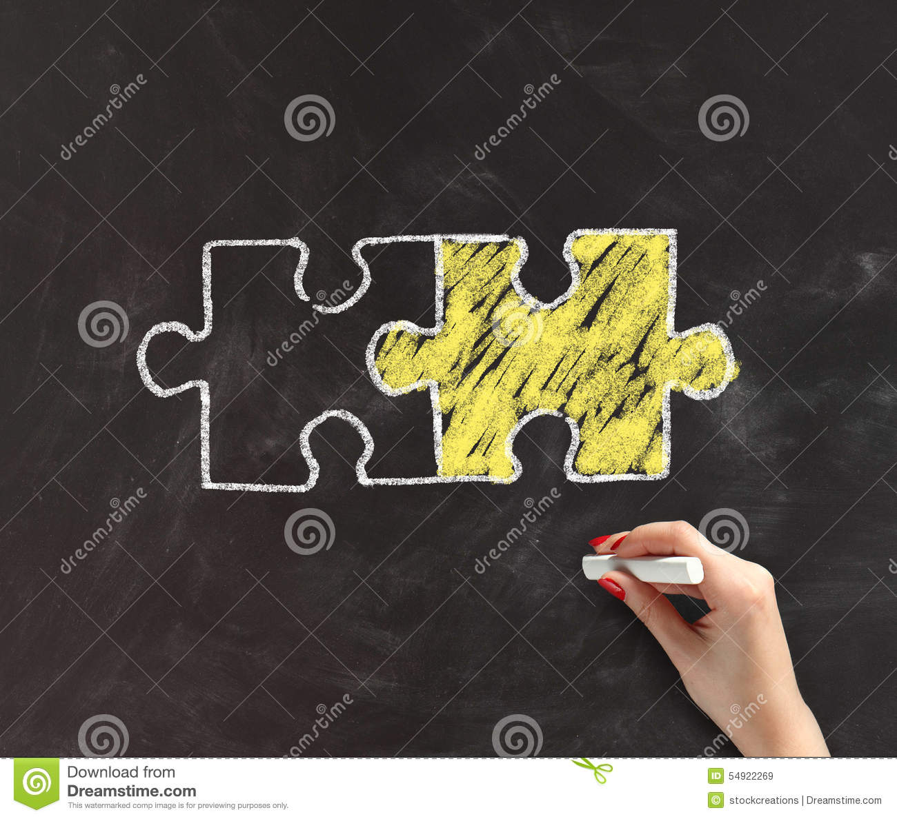 Scribble Drawing Crossword Clue : Hand drawing two matching puzzle pieces stock photo