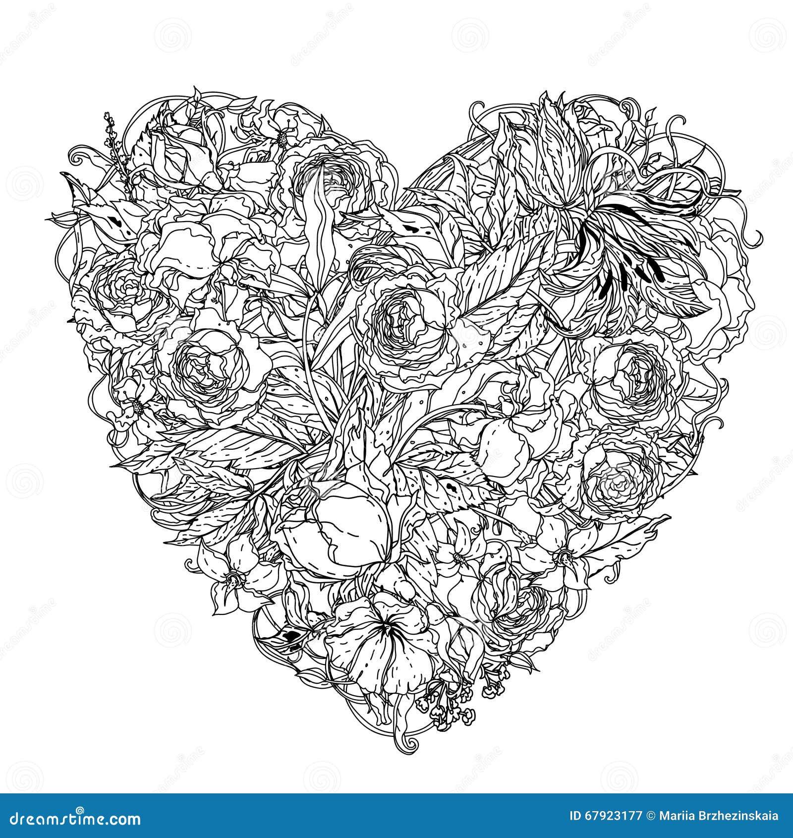 Gratis Kleurplaat Vlinder Hand Drawing Zentangle Element Black And White Flower