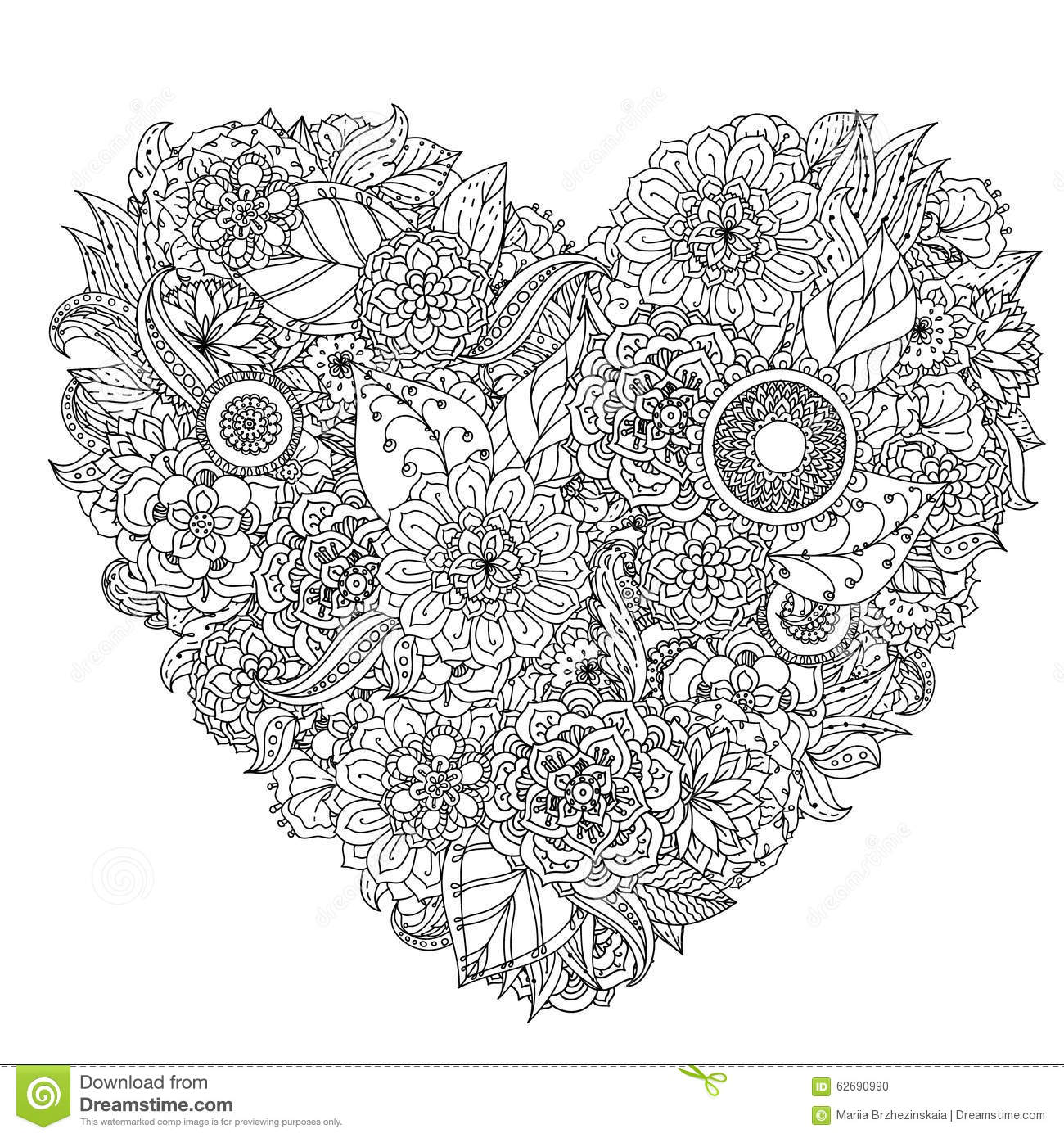 Hand Drawing Zentangle Element Black And White Stock