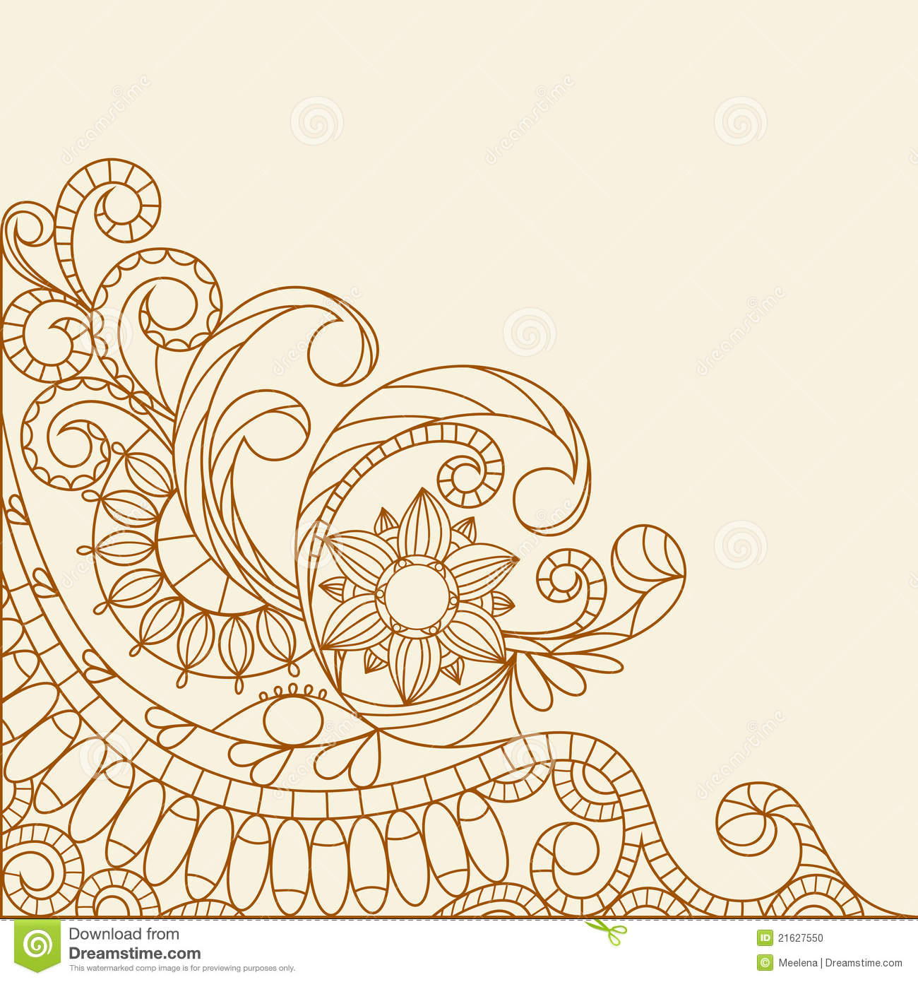 hand drawn abstract henna mehndi stock vector illustration of ornamental tattoo 21627550. Black Bedroom Furniture Sets. Home Design Ideas