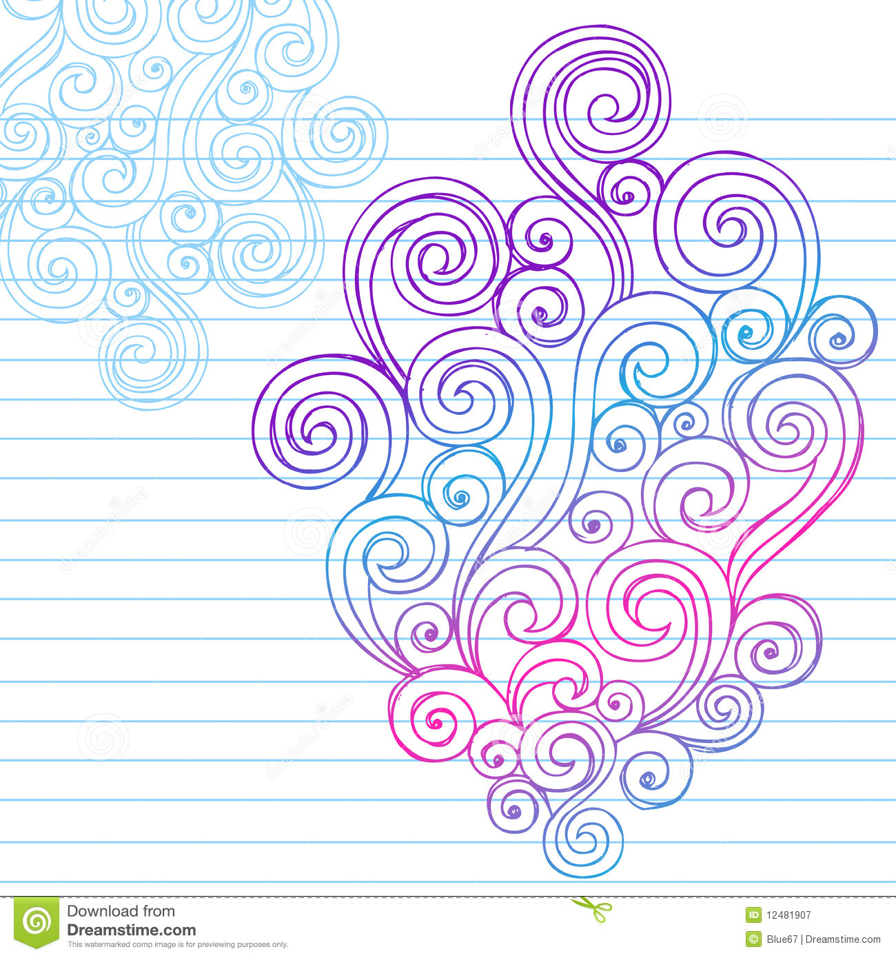 Hand Drawn Abstract Sketchy Swirl Doodles Vector Illustration Design