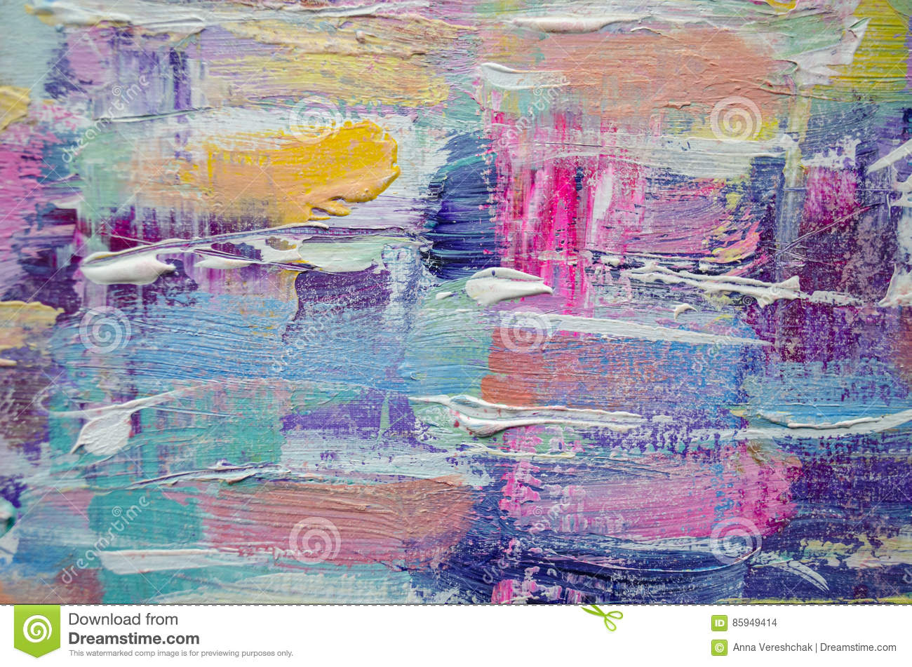 hand drawn acrylic painting abstract art background acrylic