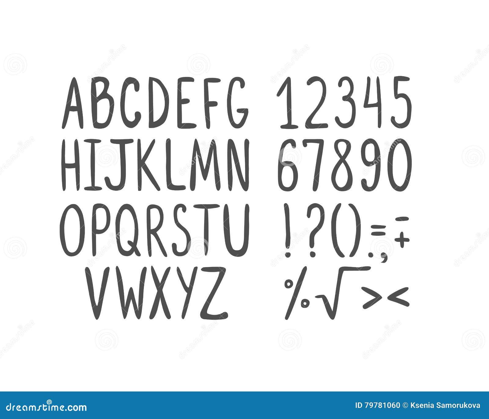 Hand drawn alphabet capital letters stock vector illustration royalty free vector buycottarizona Choice Image