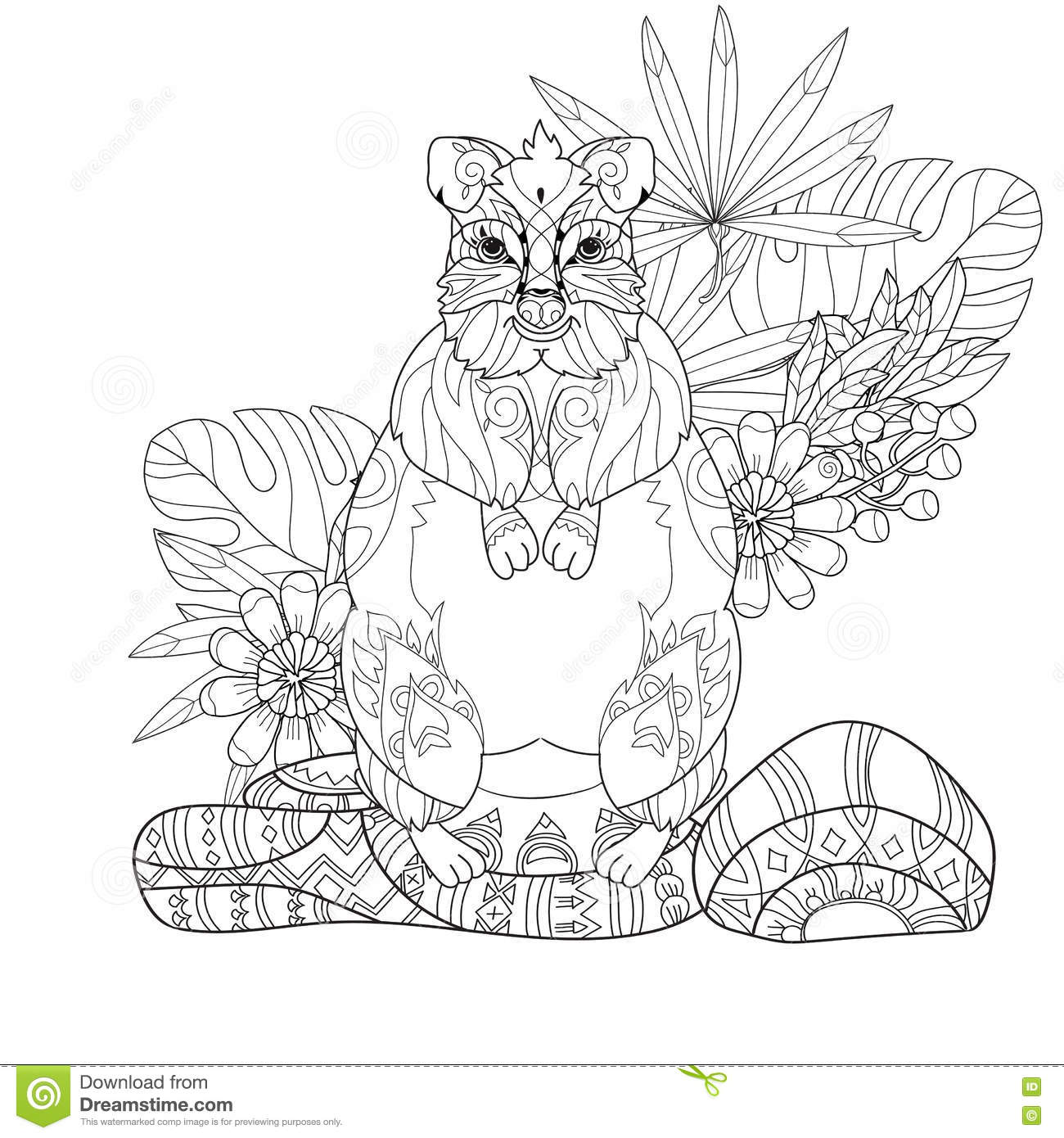 Hand Drawn Animal Quokka Doodle Stock Vector Image 74004162