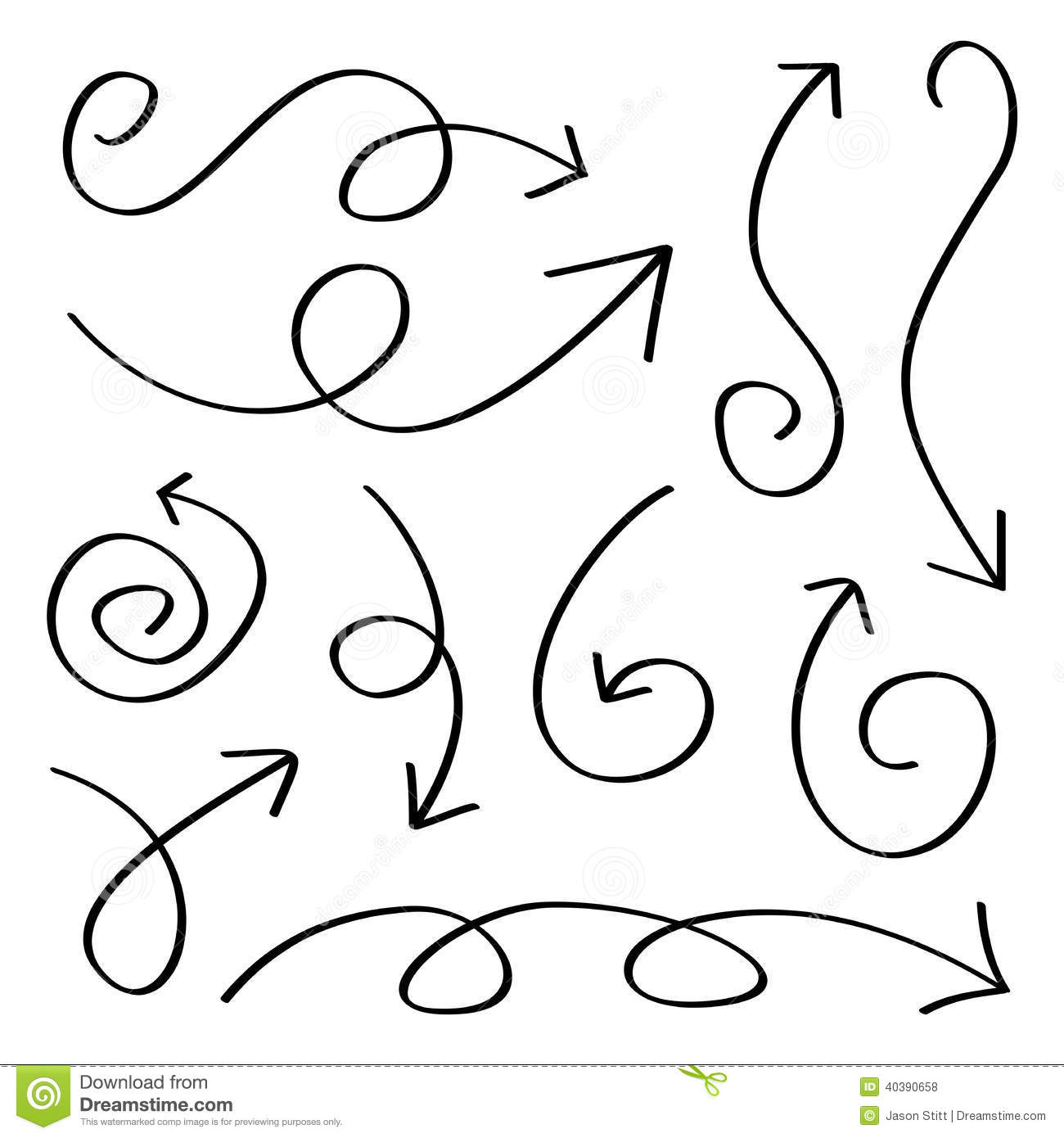 Hand Drawn Arrows stock vector. Illustration of pointer ...