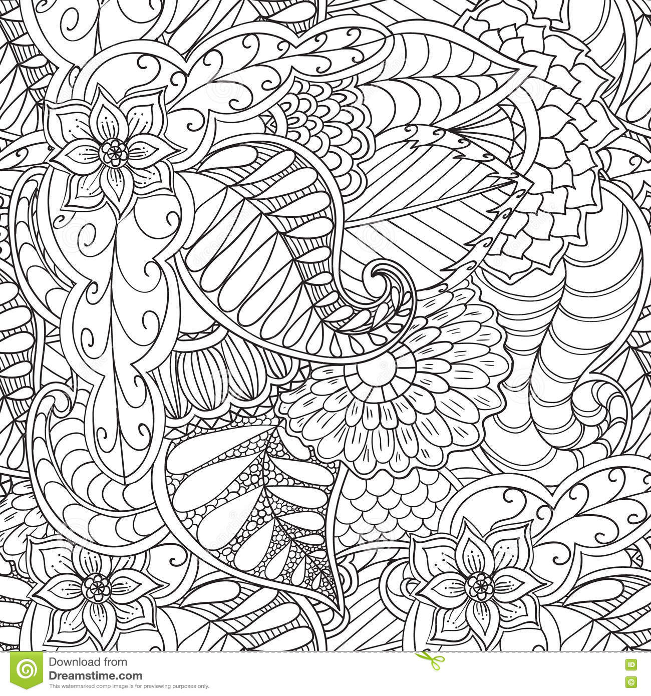 Hand Drawn Artistic Ethnic Ornamental
