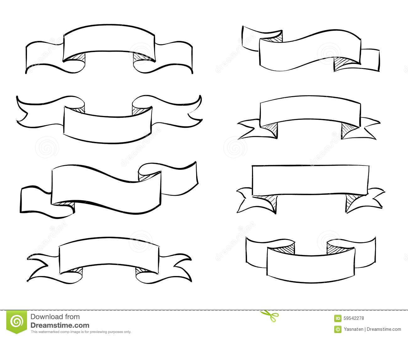 how to draw a scroll banner