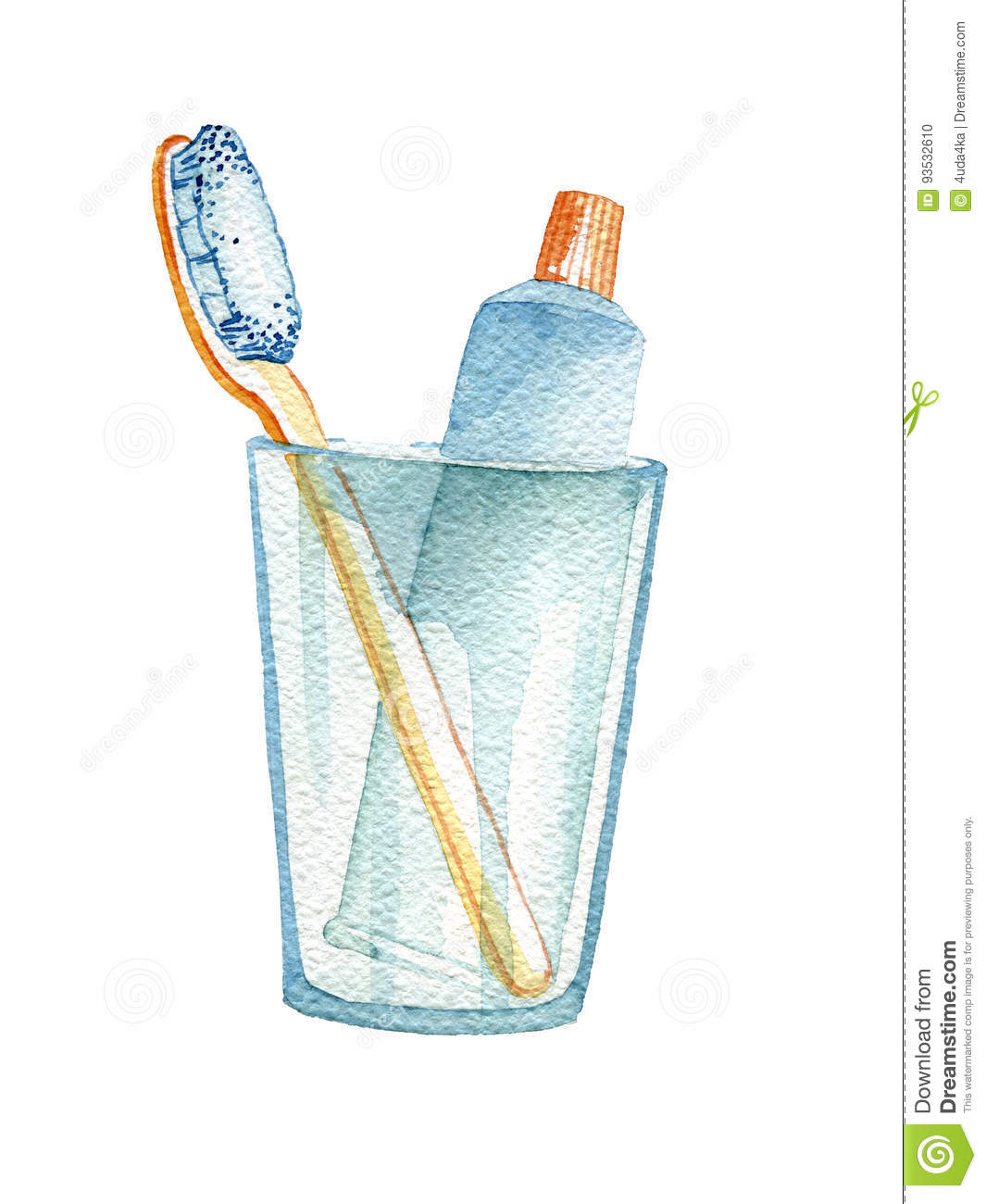 Hand Drawn Bathroom Accessories Stock Illustration