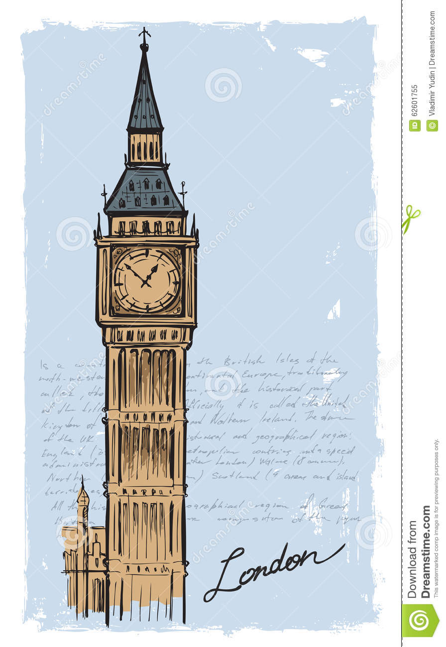 big ben doodle - photo #1