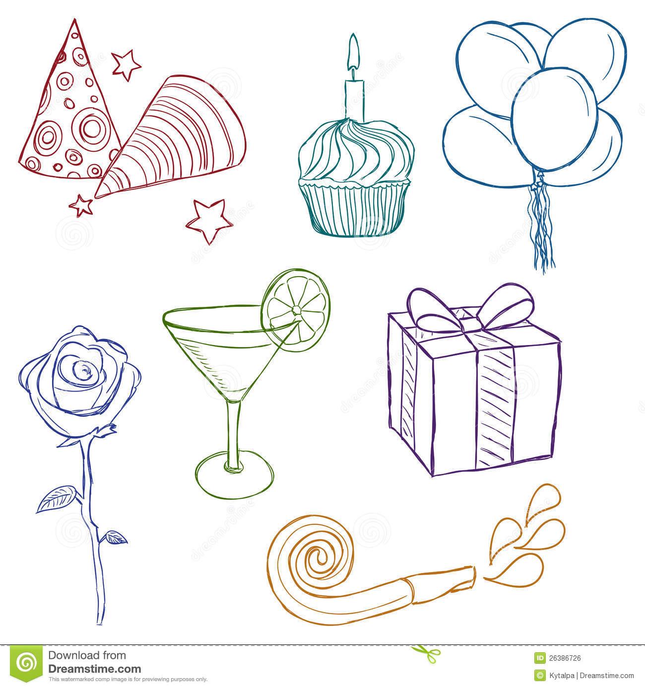 Birthday decorations to draw image inspiration of cake for Decoration drawing