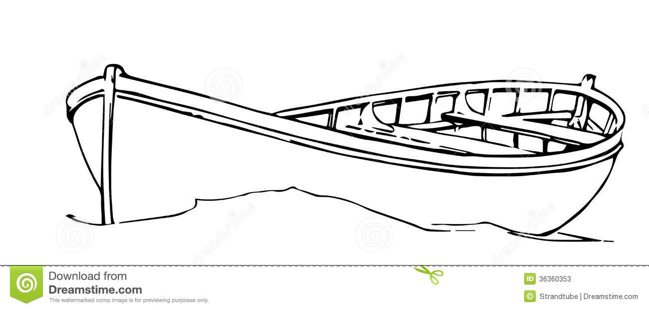 Line Drawing Boat : Hand drawn boat eps stock vector image of river ocean
