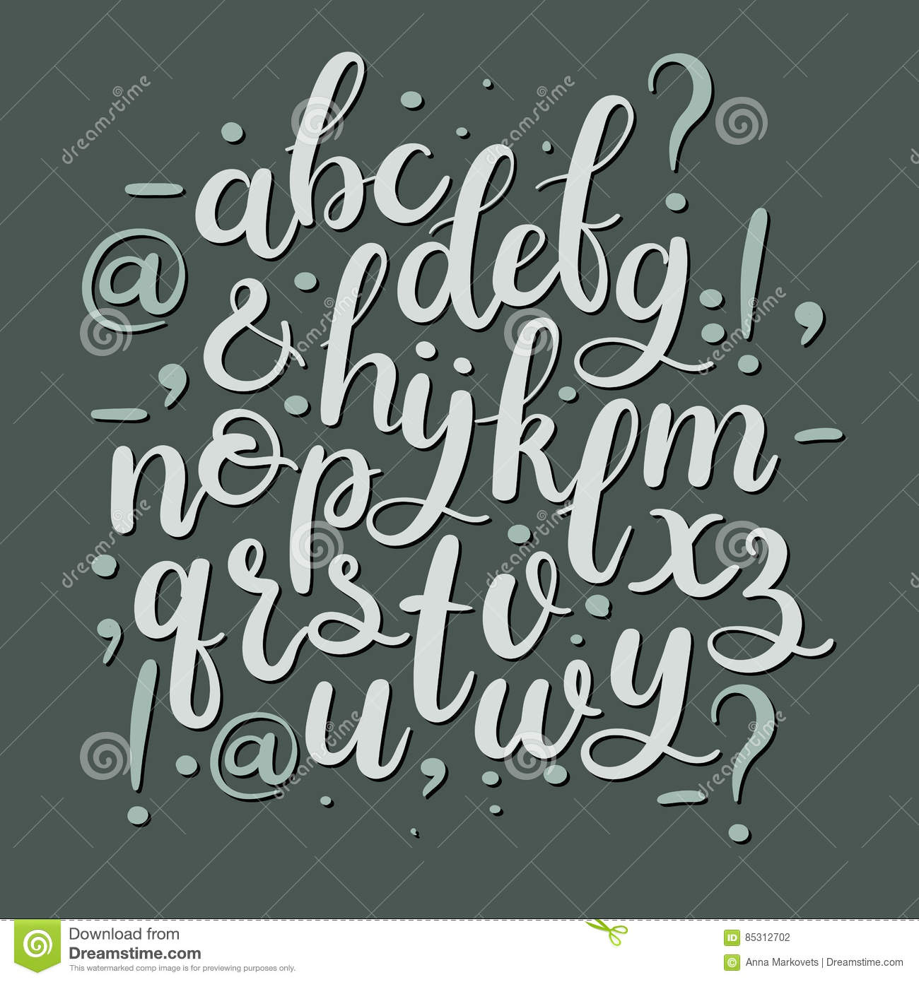 Hand Drawn Brush Letters Modern Calligraphy Font Hand