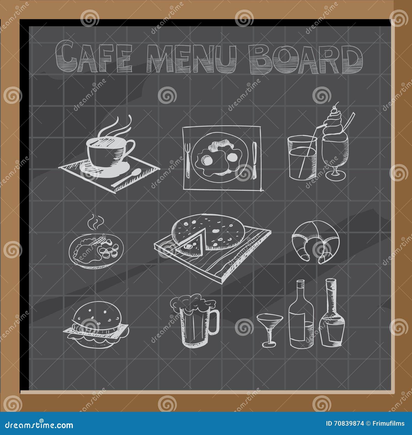 royaltyfree vector download hand drawn cafe menu board