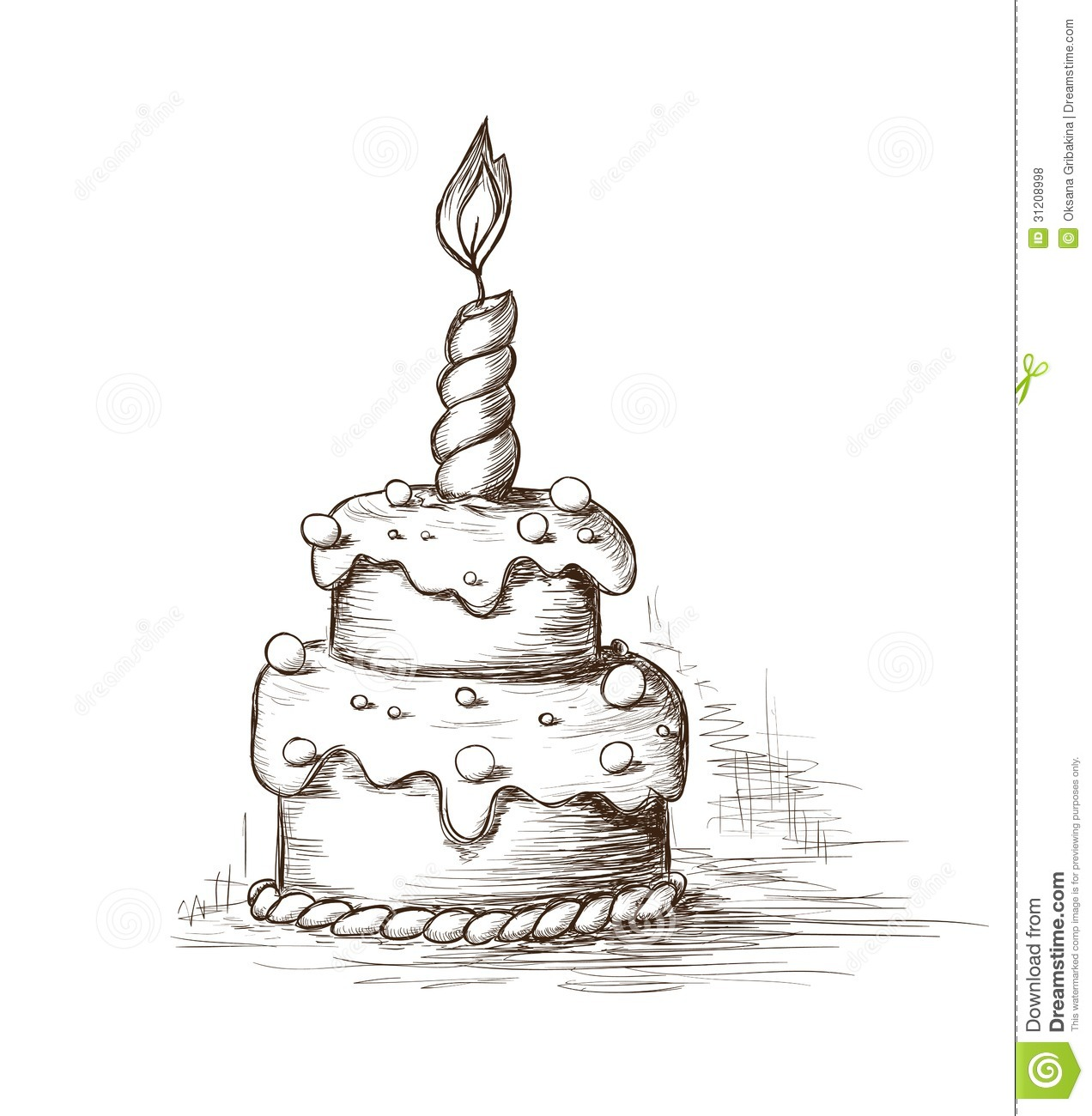 Hand Drawn Cake Stock Vector Illustration Of Gourmet