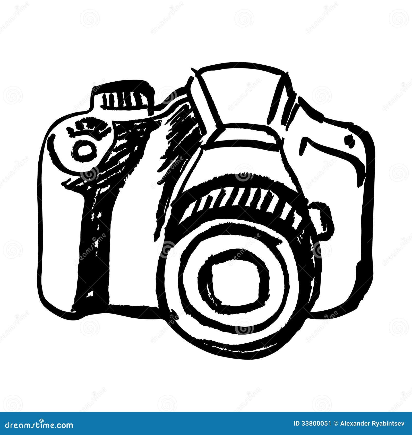 Hand Drawn Camera Stock Illustration Illustration Of Click 33800051
