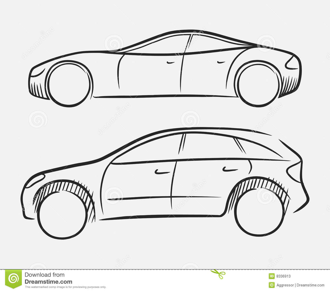 Hand Drawn Cars Stock Vector Illustration Of Freehand