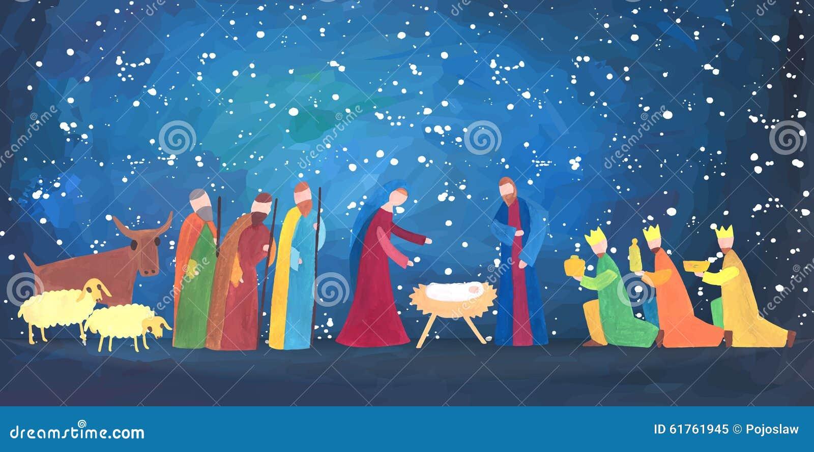 hand drawn christmas illustration stock vector