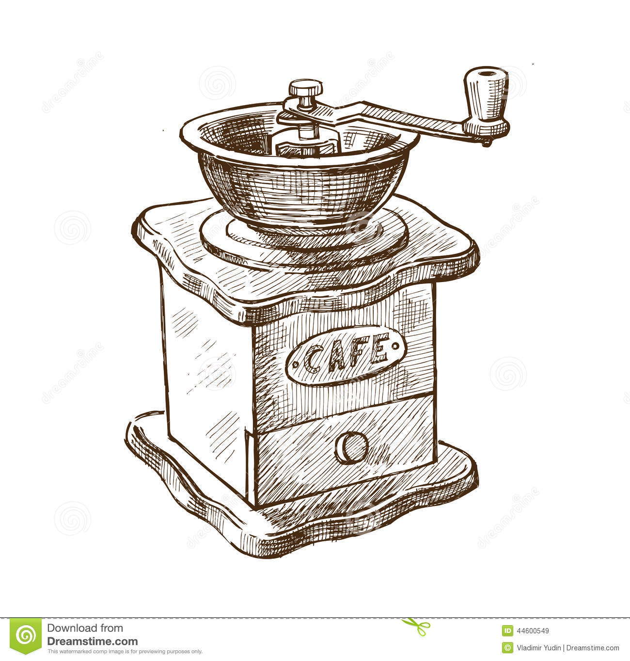 Coffee Grinder Drawing ~ Hand drawn coffee stock vector image of design doodles