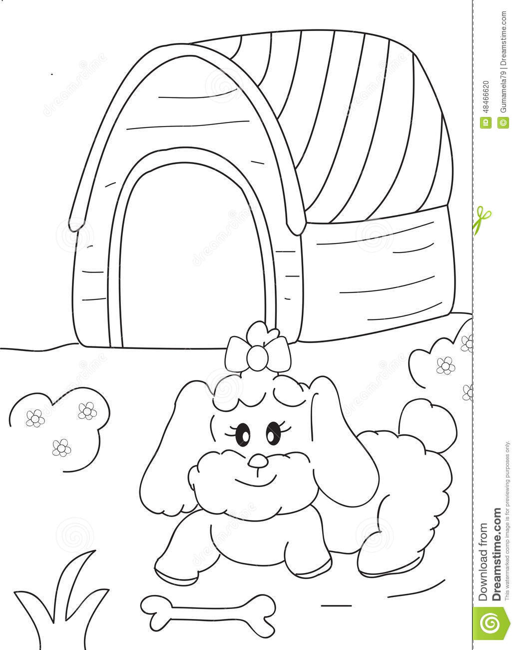 Bone Coloring Page #1