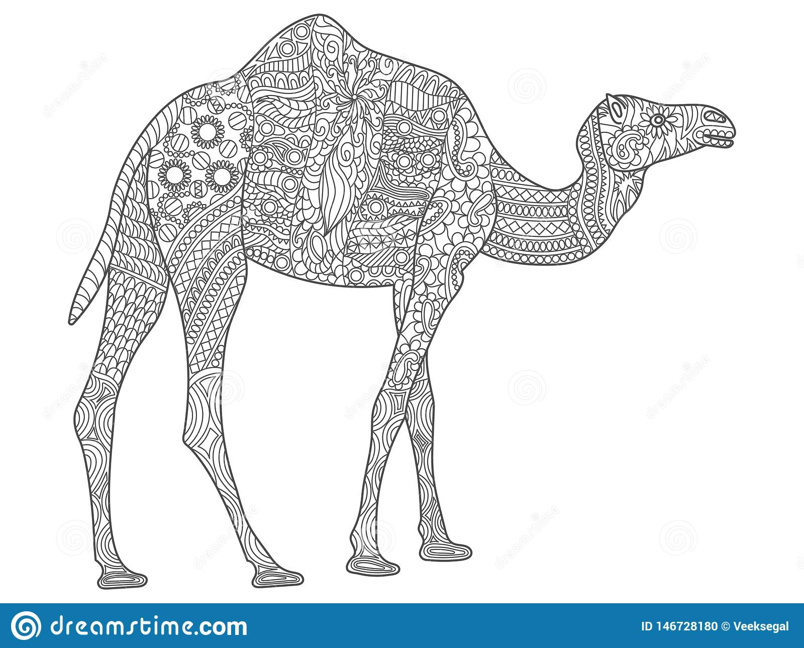 Dromedary Camel coloring page | Free Printable Coloring Pages | 1289x1600