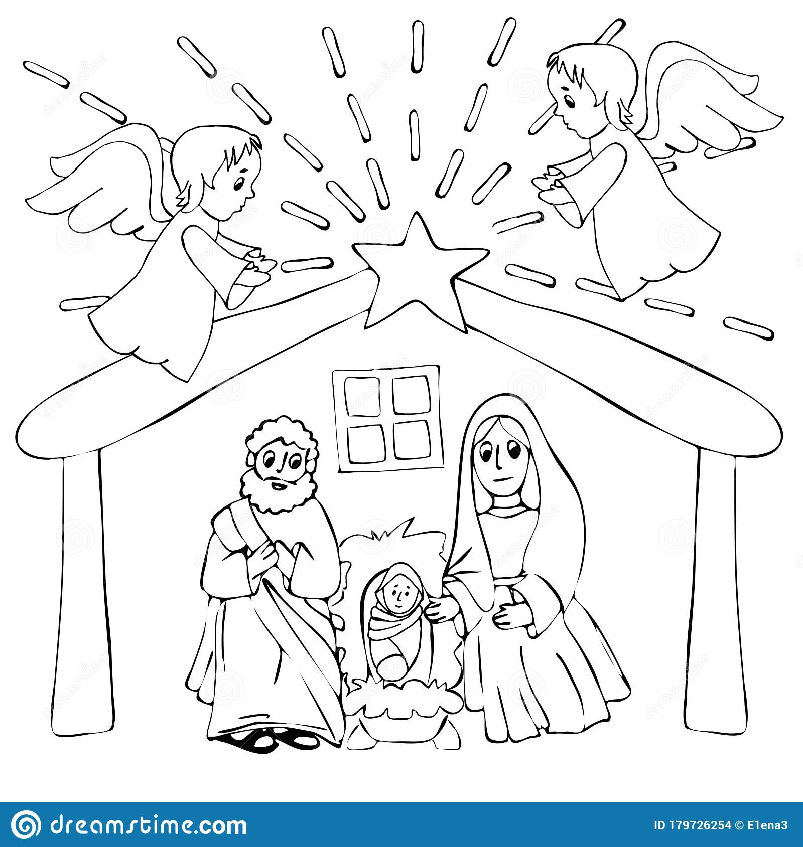 Nativity Coloring Pages - GetColoringPages.com | 1689x1600