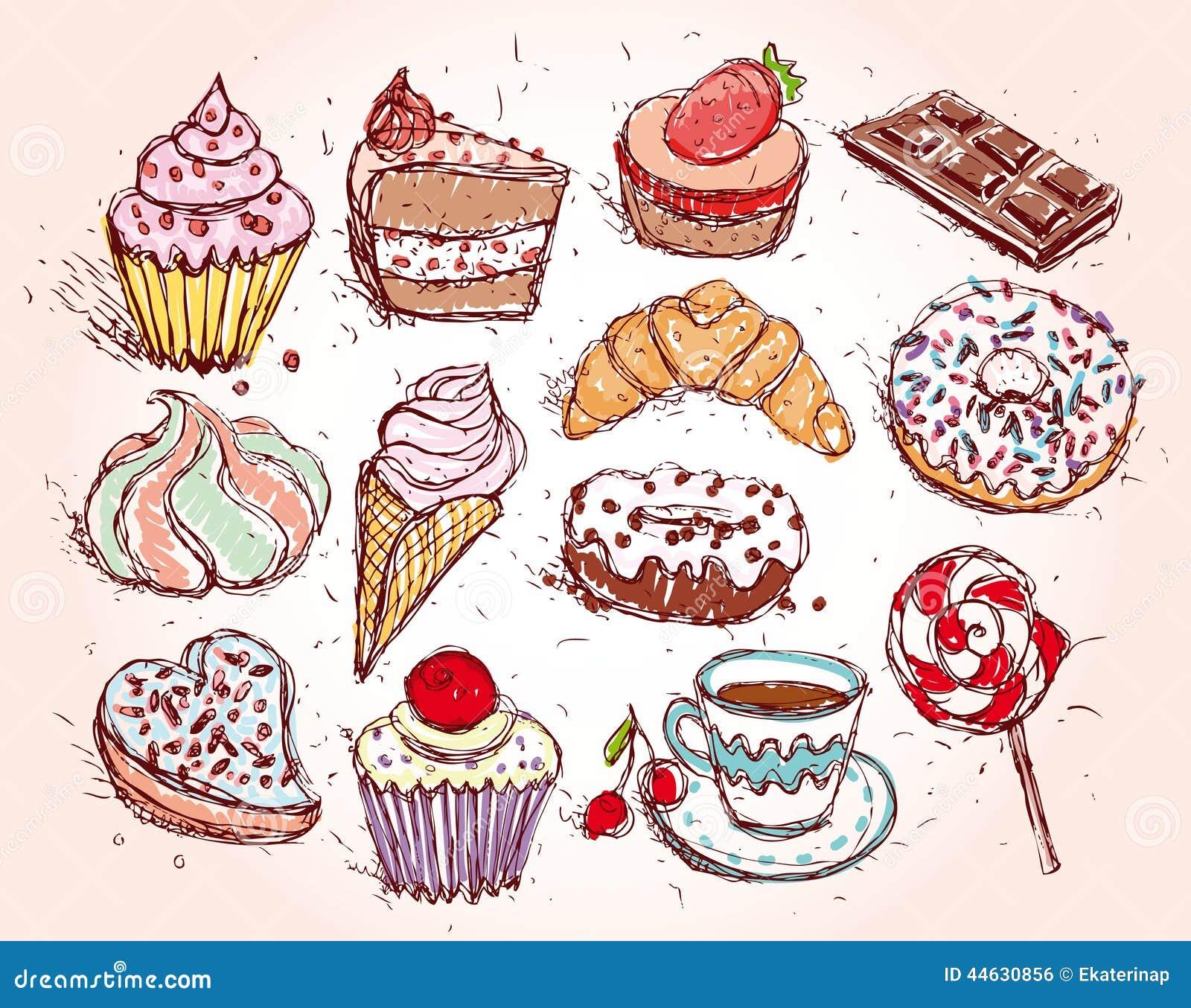 Рисунок карандашом сладостей