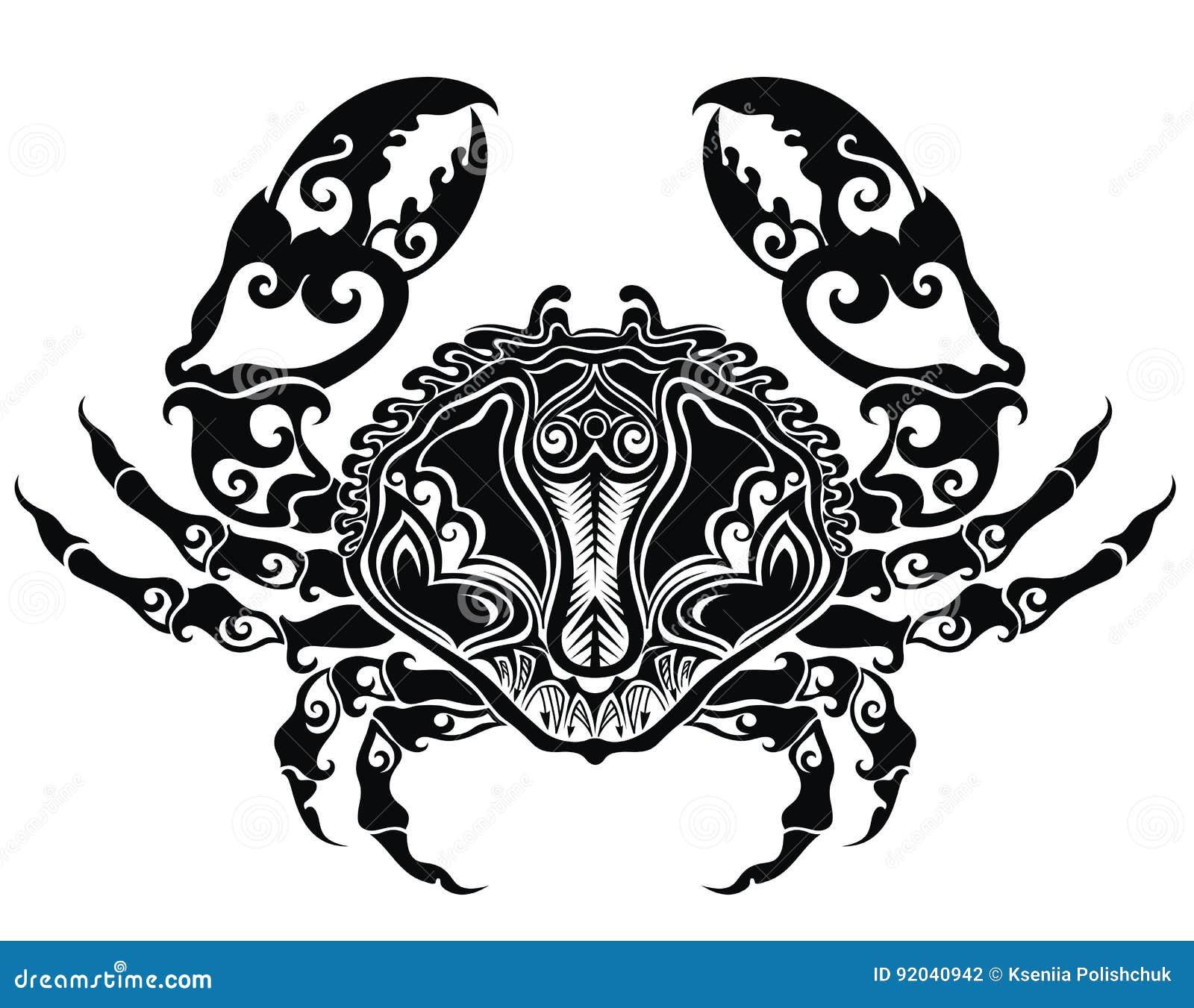 Zentangle Stylized Crab Cartoon Vector Cartoondealer Com
