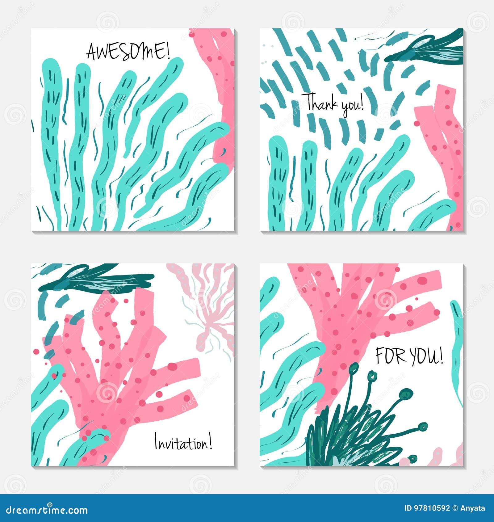 Hand drawn creative invitation greeting cards stock vector download hand drawn creative invitation greeting cards stock vector illustration of drawing creative m4hsunfo
