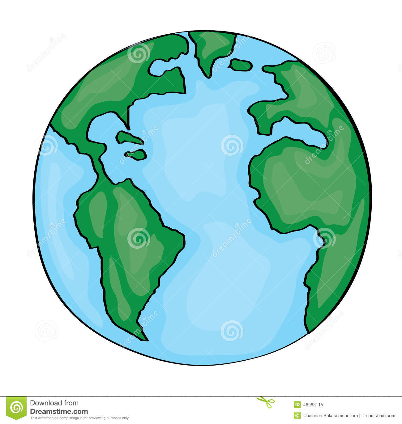 how to draw a cute earth