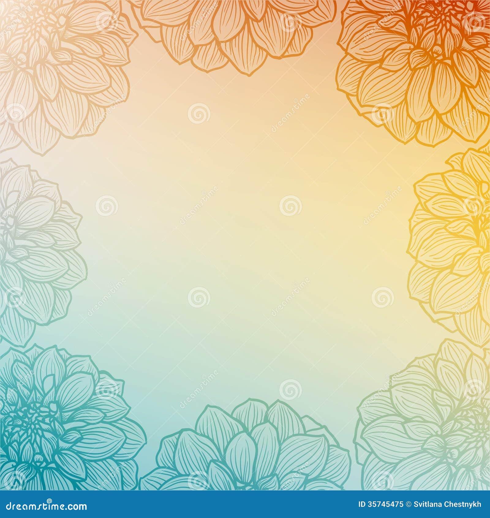 Hand Drawn Dahlia Flower Royalty Free Stock Photo Image 35745475