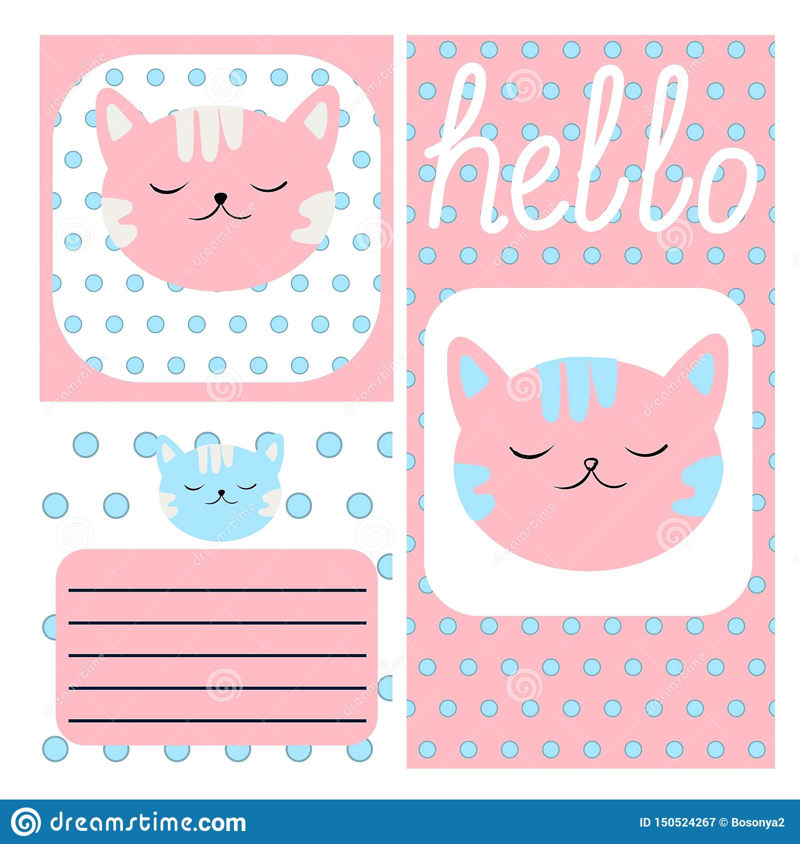 Hand Drawn Doodle Baby Shower Cards, Brochures, Invitations