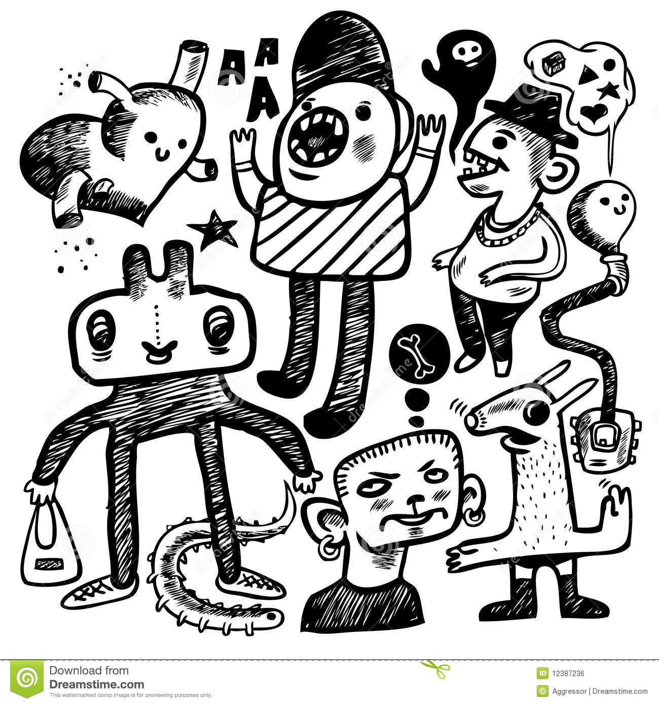 Hand Drawn Doodles Royalty Free Stock Image Image 12387236