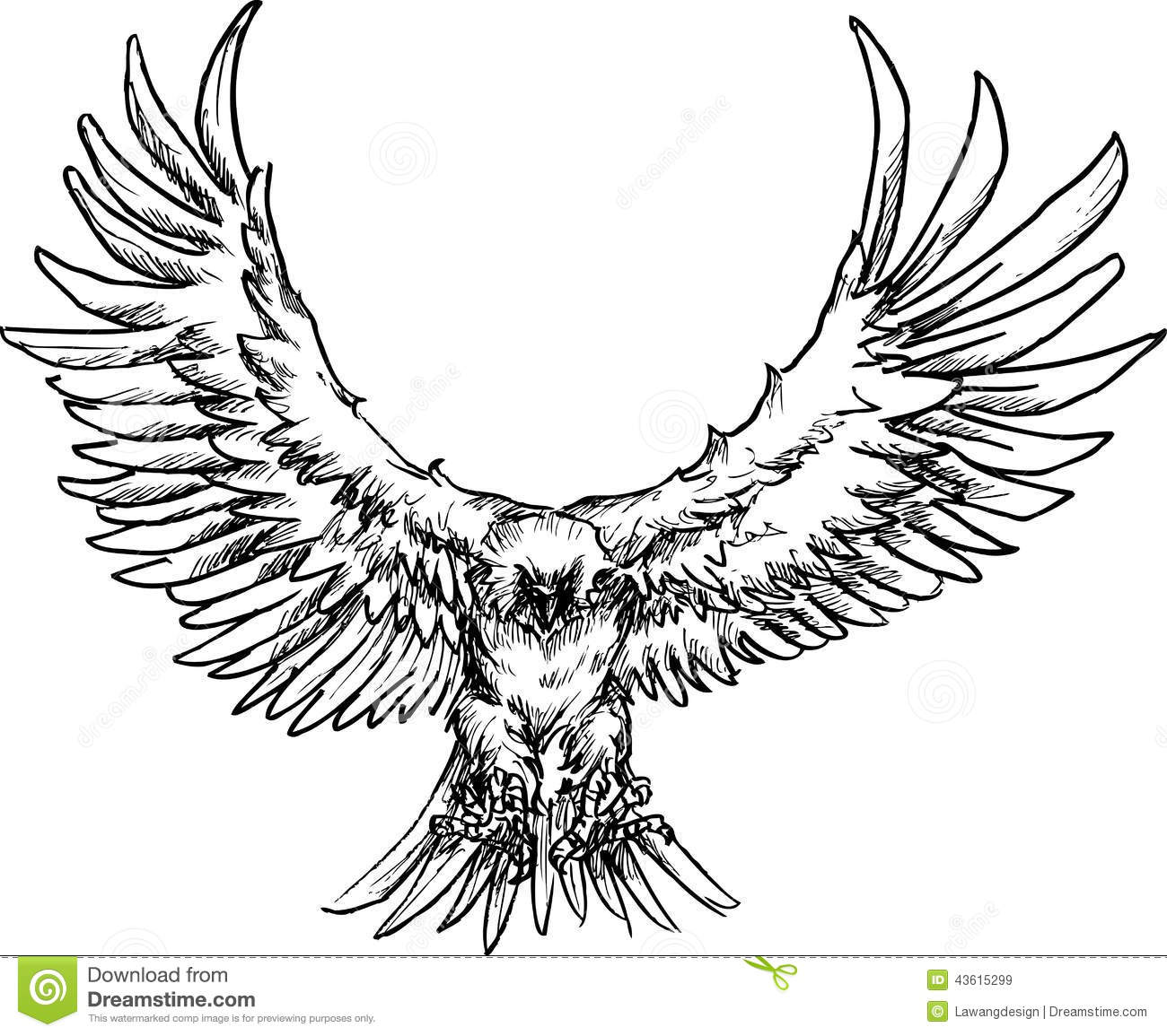 Hand Drawn Eagle Stock Vector Image Of Hand Comic