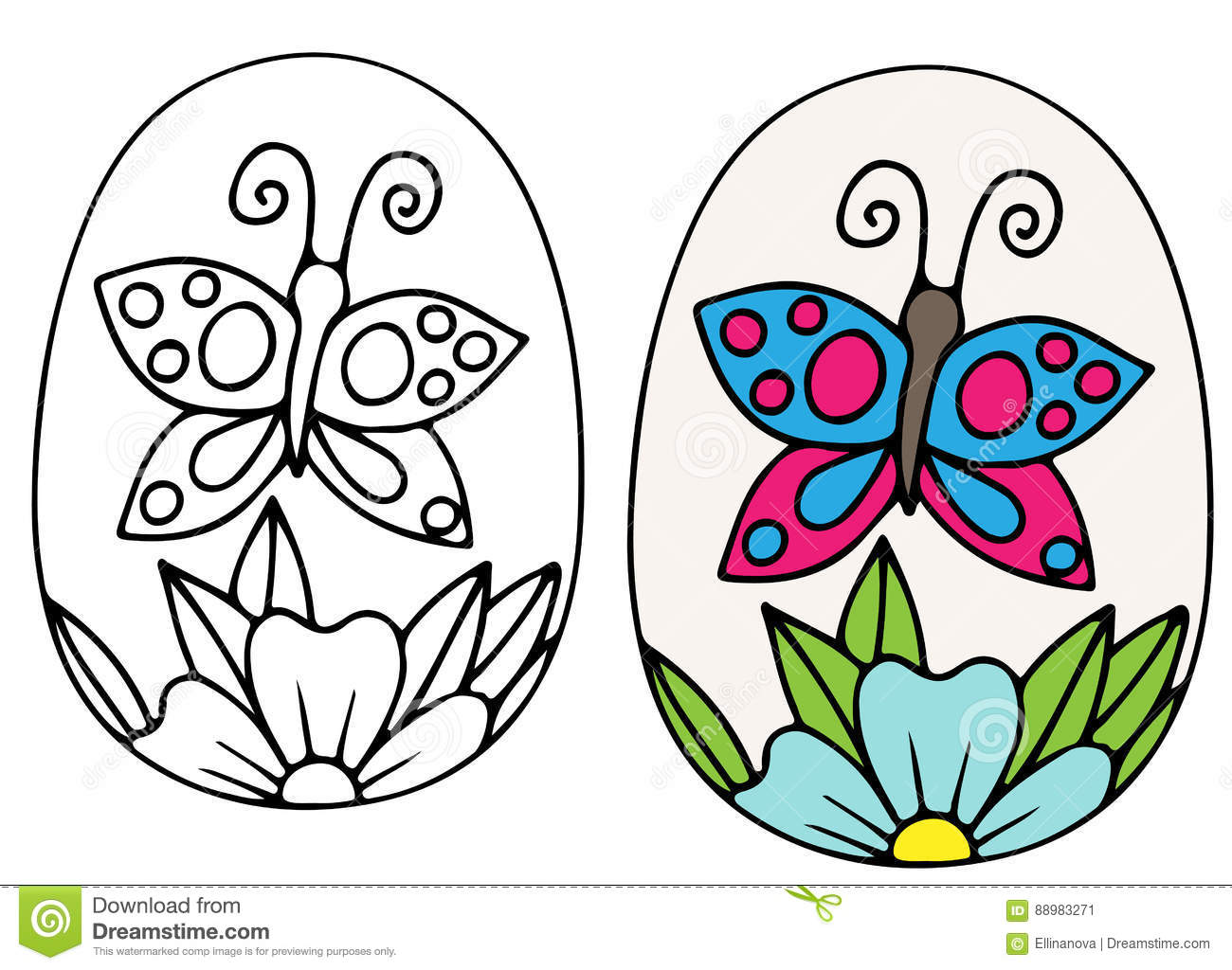butterfly easter egg coloring pages - photo#9