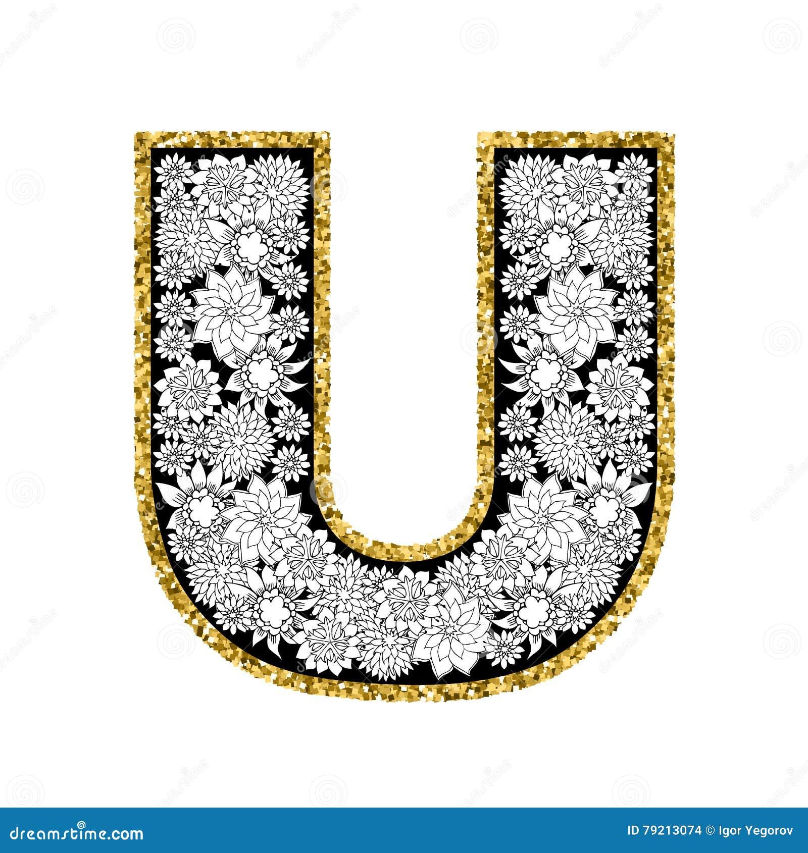 u alphabet design - photo #43