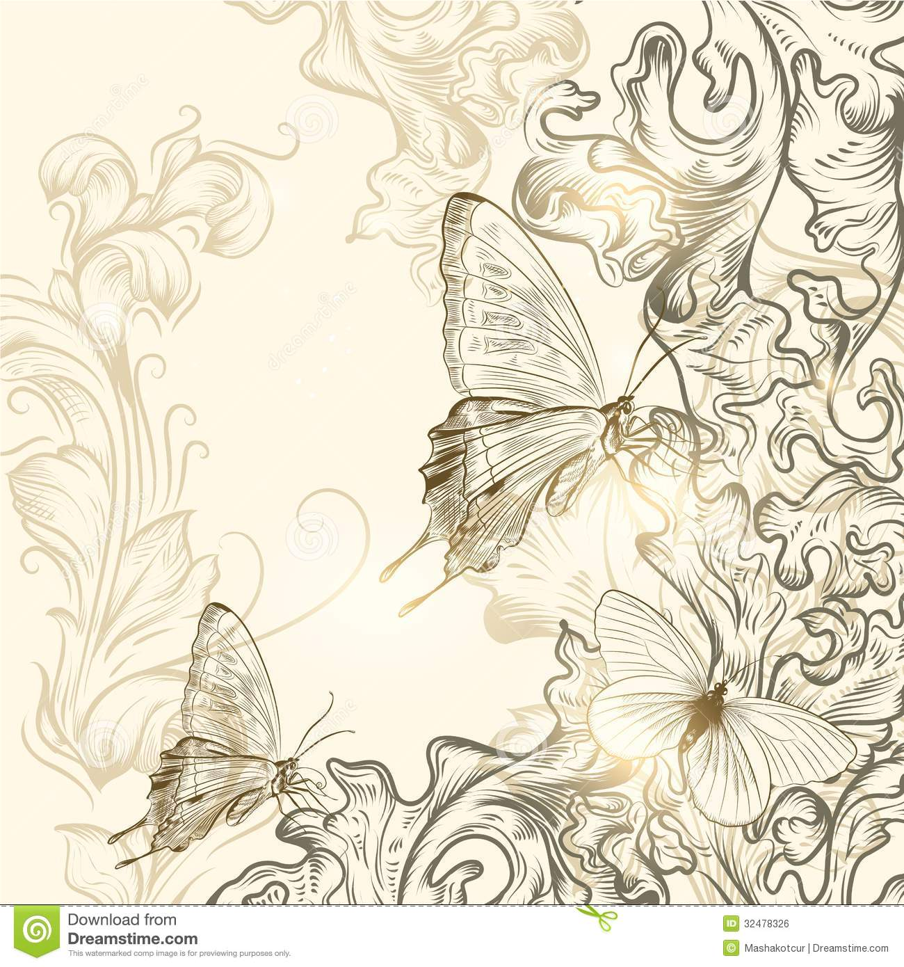 hand drawn floral background for design stock vector illustration
