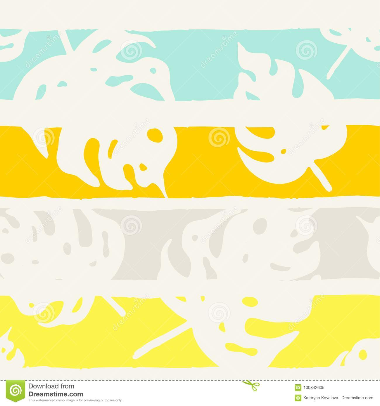 Seamless Pattern With Tropical Leaves. Stock Vector - Illustration ...