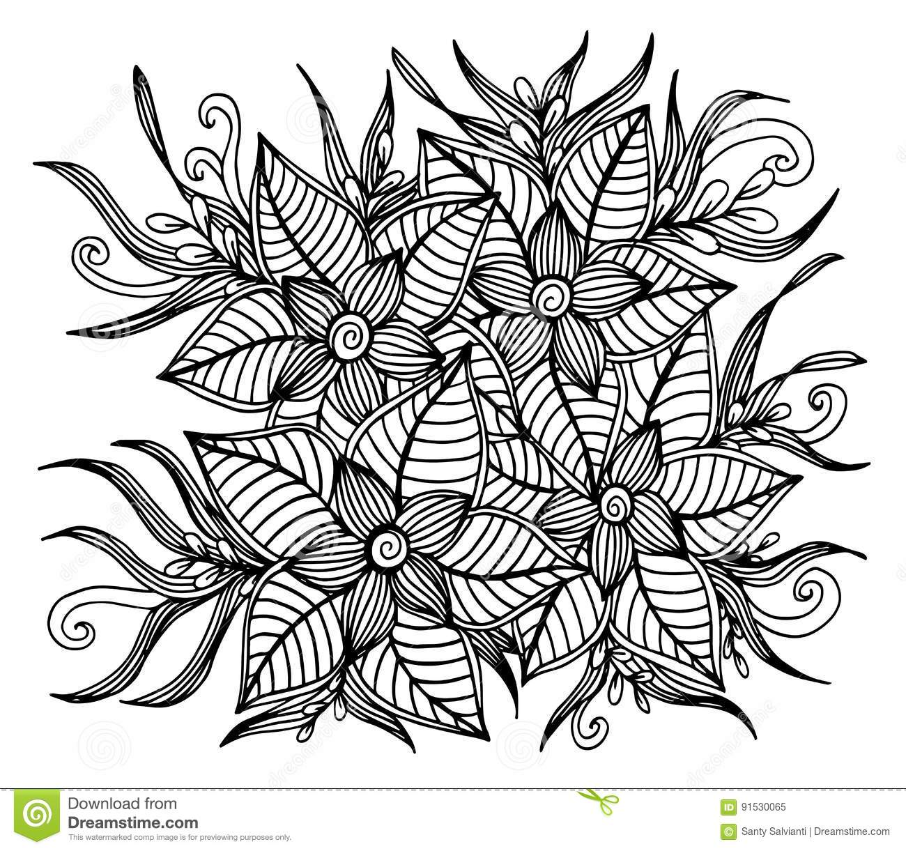 Page For Coloring Book Very Interesting And Relaxing Job Children Adults Zentangle Drawing Flower Carpet In Magic Garden